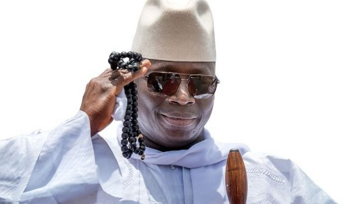 Yahya jammeh salute