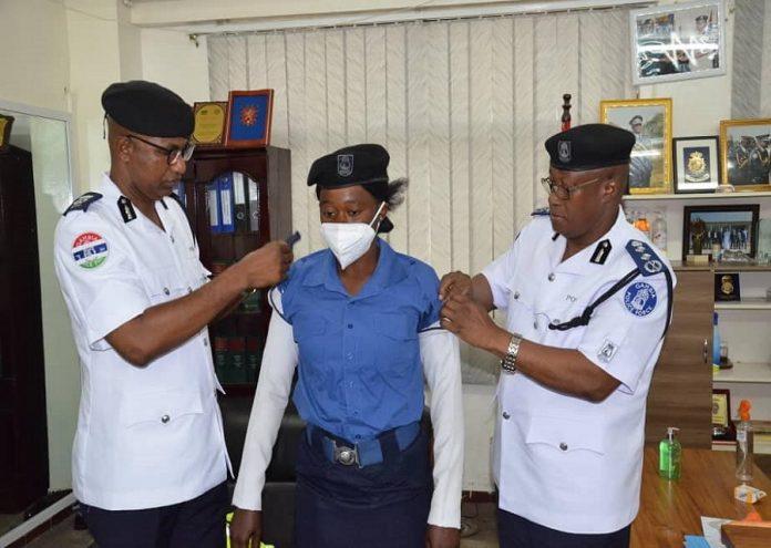 promoted traffic officer Kaddy Jarju