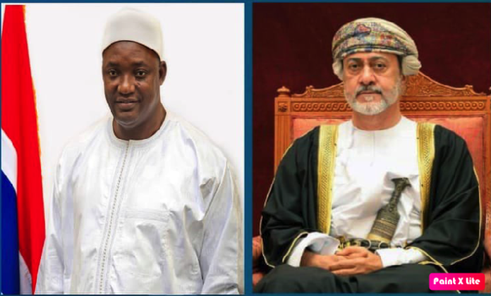 HM The Sultan greets President Barrow